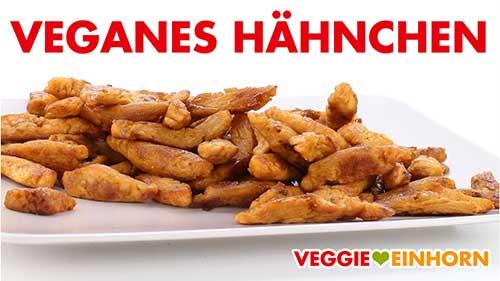 Fertig zubereitetes veganes Hähnchenfleisch
