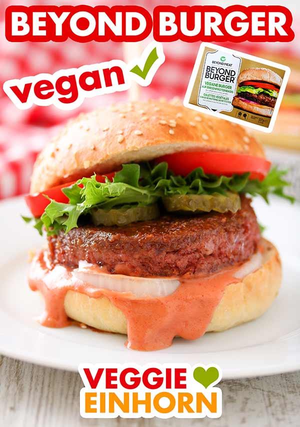 Fertiger Hamburger mit Beyond Meat Burger Patty