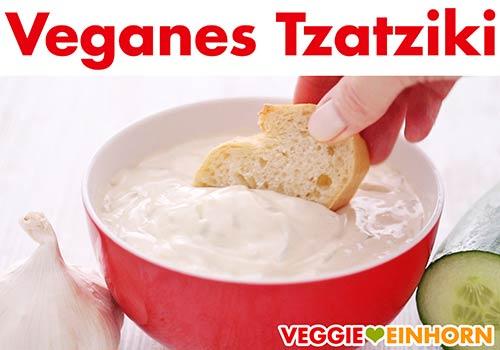 Fertiges veganes Tzatziki aus Cashewkernen und Tofu