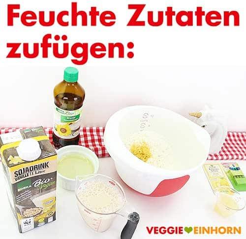 Feuchte Zutaten für Zitronenkuchen