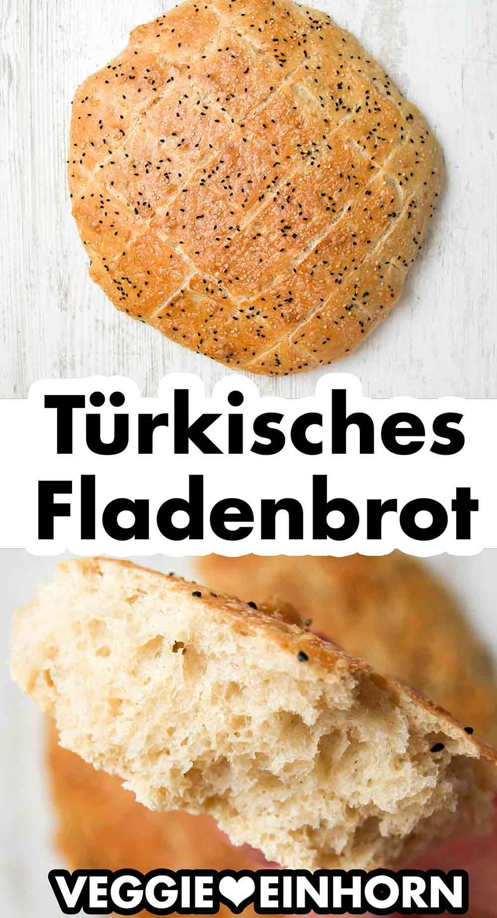Türkisches Fladenbrot mit Sesam und Schwarzkümmel