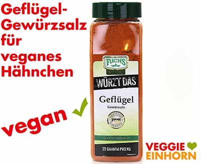 Fuchs Würzt Das Geflügel Gewürzsalz für veganes Hähnchen