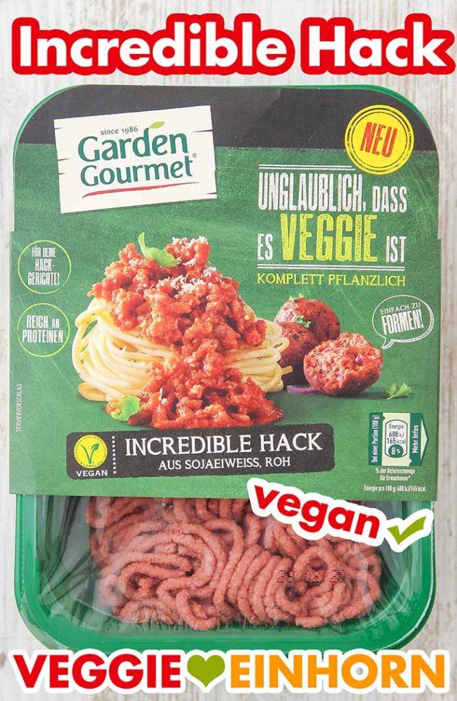 Eine Packung vegetarisches Hackfleisch von Garden Gourmet