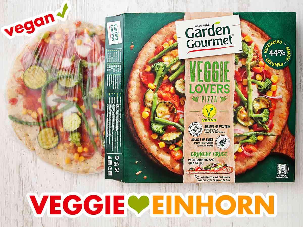 Eine Packung Garden Gourmet Veggie Lovers Pizza