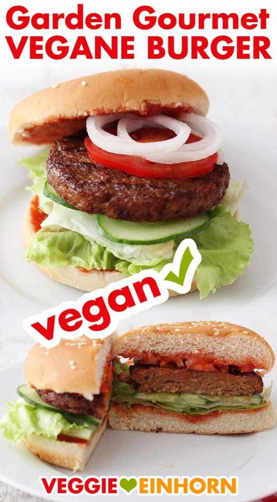Die veganen Burger Patties von Garden Gourmet auf dem fertigen Burger