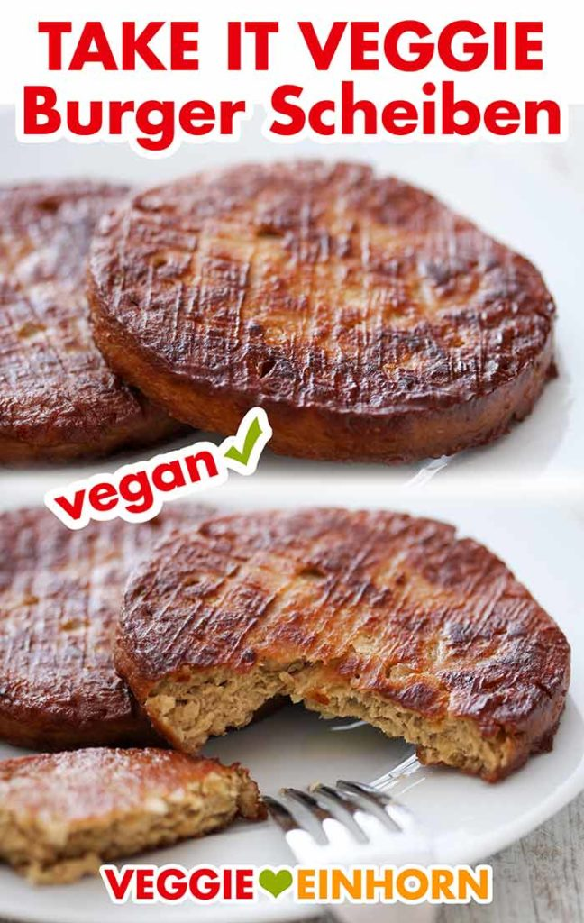 Gebratene vegane Burger Patties auf einem Teller