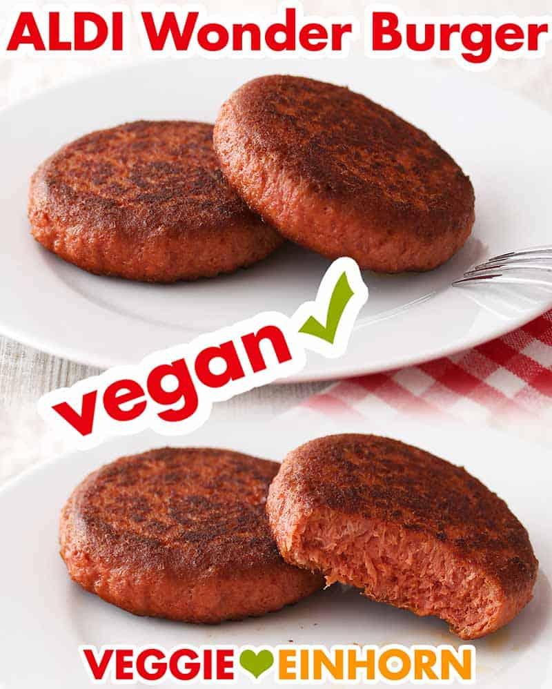 Gebratene vegane Burgerpatties von Aldi