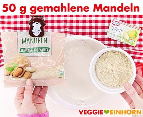 Gemahlene Mandeln für Spitzbuben-Plätzchenteig