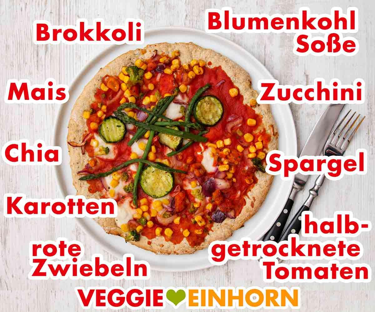 Gemüse auf der Veggie Lovers Pizza von Garden Gourmet