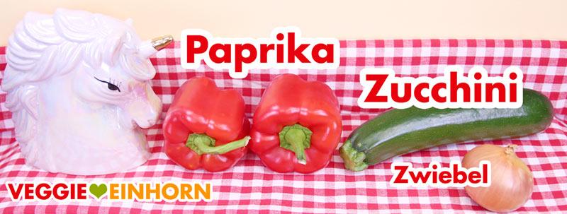 Paprika, Zucchini, Zwiebeln