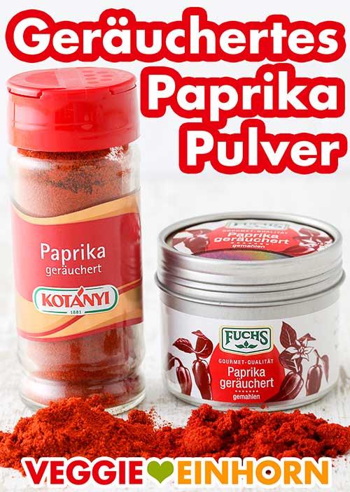 Zwei Packungen geräuchertes Paprika Gewürz