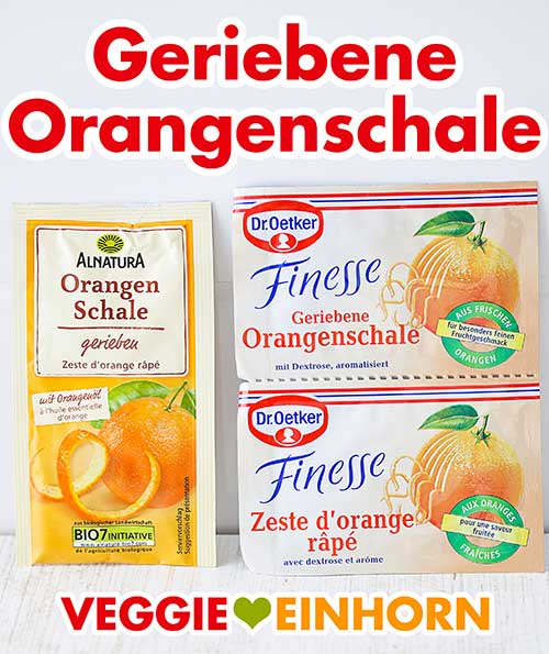 Zwei Packungen Orangenabrieb