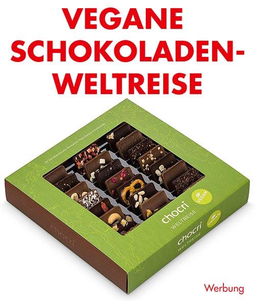 Geschenkbox mit veganer Schokolade
