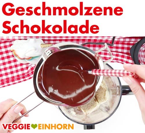 Geschmolzene vegane Schokolade zufügen