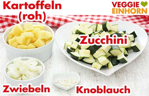 Gewürfeltes Gemüse