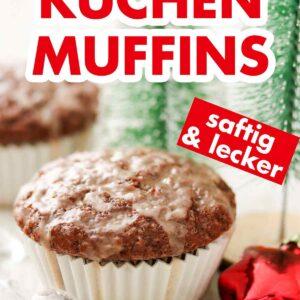 Gewürz Muffins mit Weihnachtsdeko