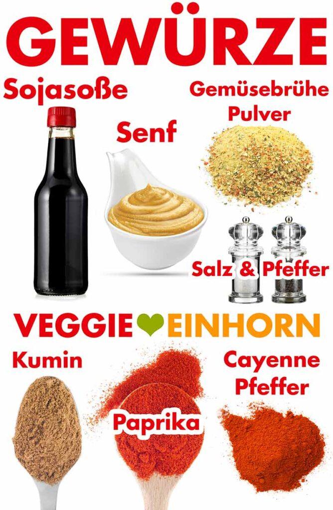 Gewürze für die Kidneybohnen Burger Patties