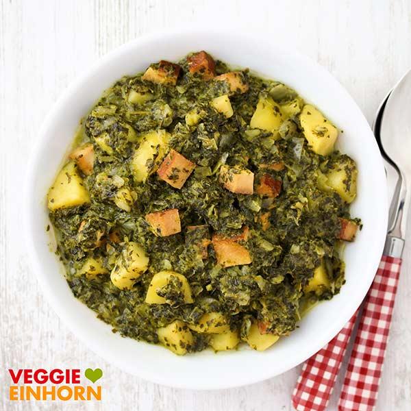 Deftiger vegetarischer Grünkohleintopf