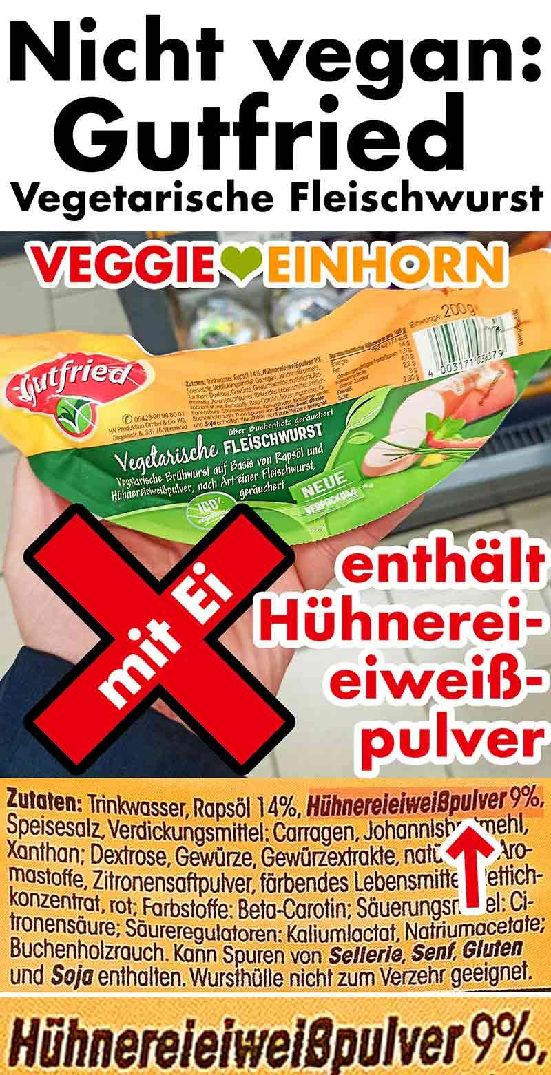 Vegetarische Fleischwurst von Gutfried im Supermarkt