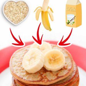Ein Stapel Haferflocken Bananen Pfannkuchen