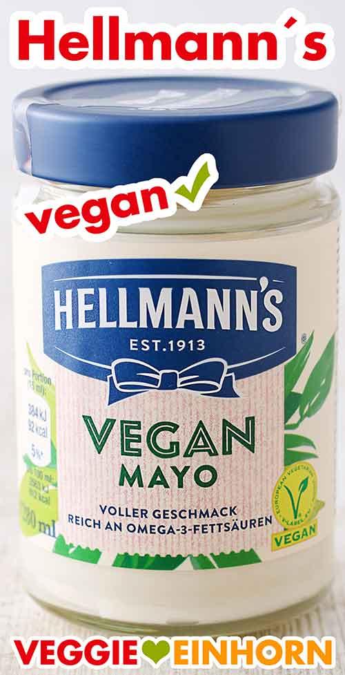 Ein Glas vegane Mayonnaise von Hellmann`s