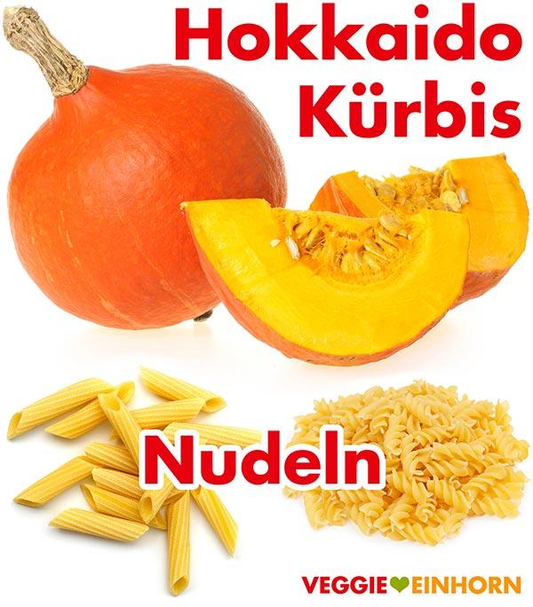 Hokkaido Kürbis und Nudeln