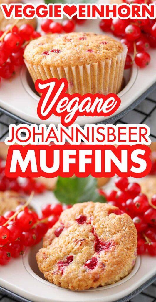 Vegane Muffins mit Johannisbeeren