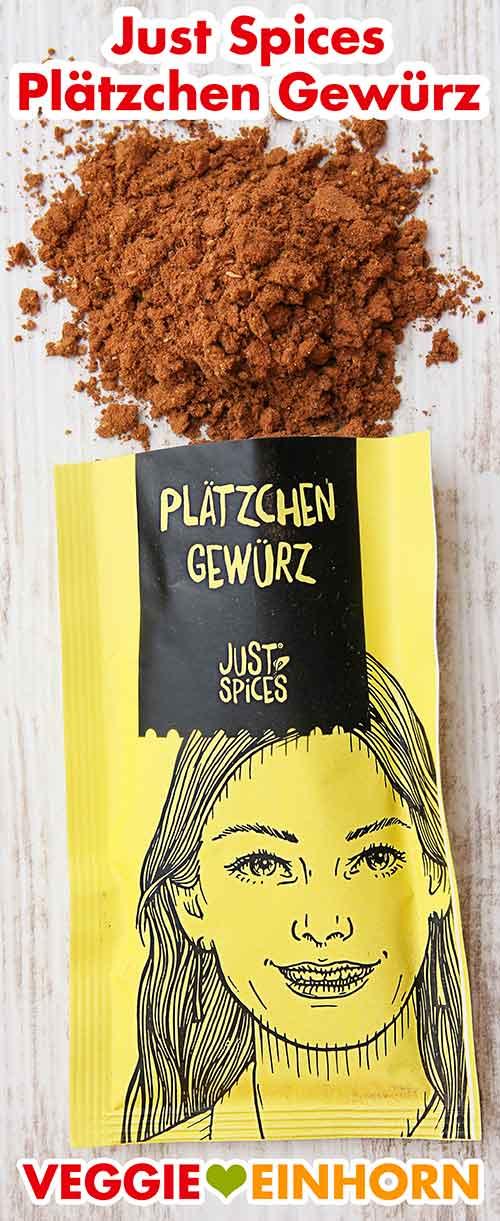 Eine geöffnete Packung Just Spices Plätzchen Gewürz