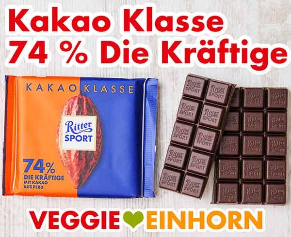 Ritter Sport 74 % Kakao Klasse aus Peru