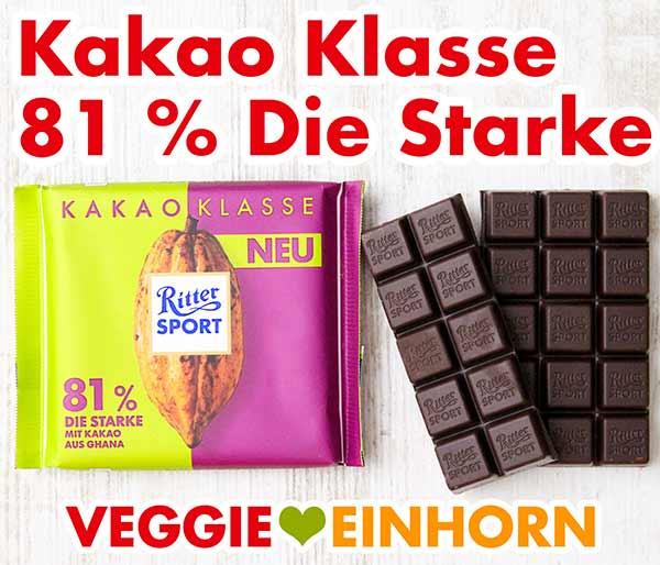 Ritter Sport Kakao Klasse 81 % Die Starke aus Ghana