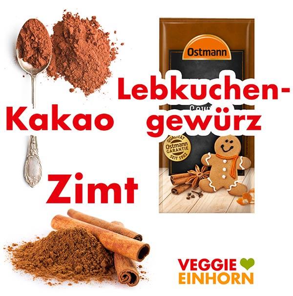 Kakao, Zimt, Lebkuchengewürz