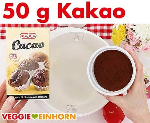 Kakao zufügen.