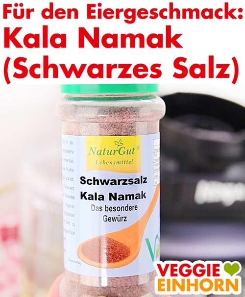 Eine Packung Kala Namak Salz