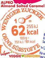 Kalorien Alpro Almond Salted Caramel