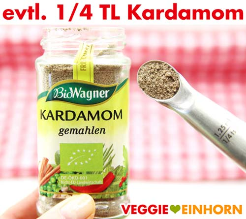 Kardamom für Zucchinibrot