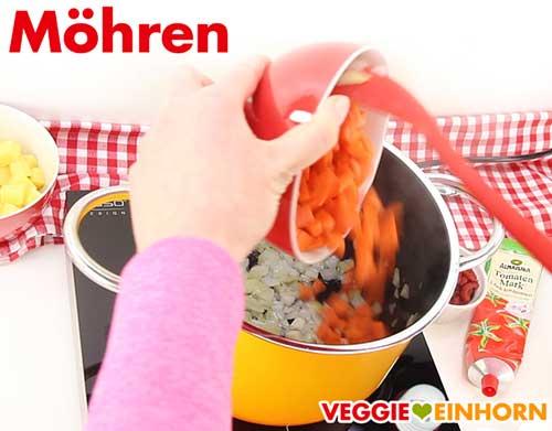 Möhren für Mercimek Suppe