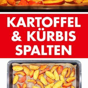 Kartoffel Wedges und Kürbisspalten aus dem Ofen