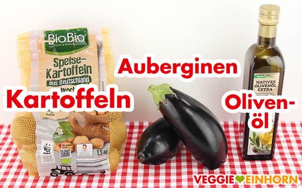 Kartoffeln, Auberginen, Olivenöl