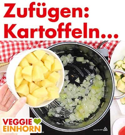 Kartoffeln zufügen