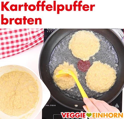 Kartoffelpuffer braten