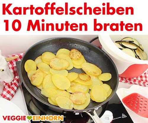 Kartoffelscheiben braten in der Pfanne