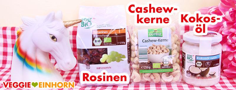 Rosinen, Cashewkerne, Kokosöl
