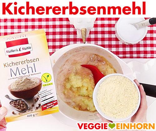 Kichererbsenmehl für vegane Kartoffelpuffer