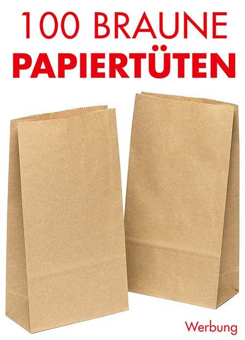 Braune Papiertüten zum Befüllen für Adventskalender