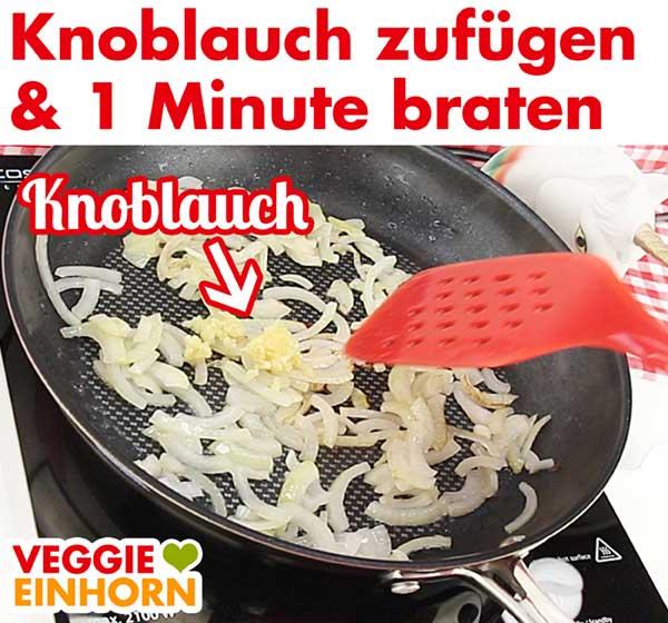 Knoblauch 1 Minute mit braten