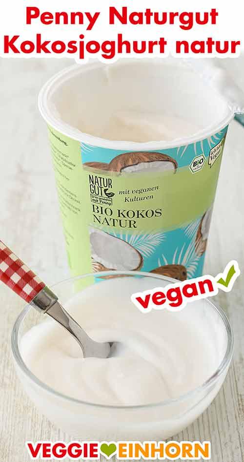 Ein Schälchen mit Kokosjoghurt von Penny
