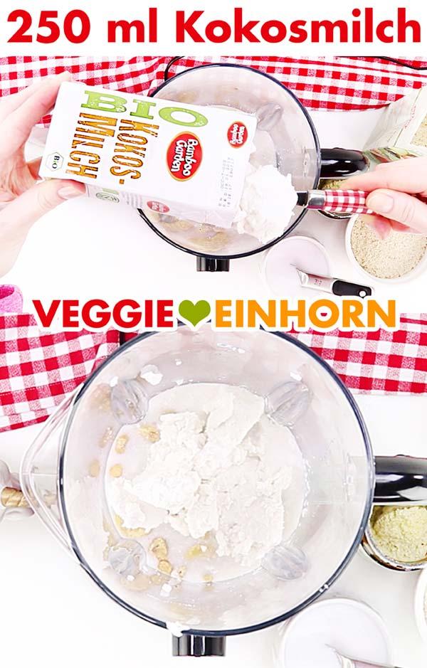 Kokosmilch für vegane Sahnesoße