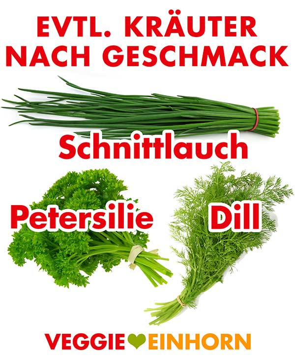 Schnittlauch, Petersilie, Dill