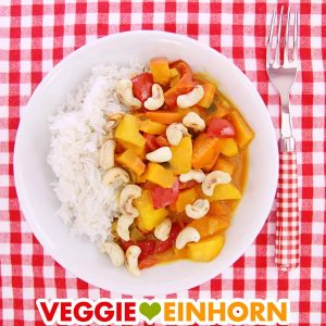 Veganes Curry mit Kürbis und Mango