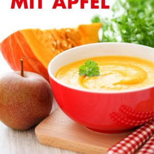 Hokkaido Kürbis Suppe mit Apfel